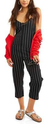Almost Famous Juniors' Button Front Cami Jumpsuit