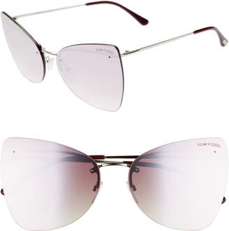 fc9352f701 Tom Ford Presley 61mm Butterfly Sunglasses