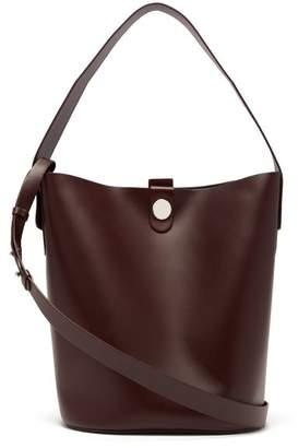 Sophie Hulme Swing Large Leather Bucket Bag - Womens - Burgundy