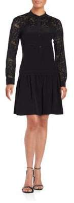 Rebecca Taylor Embroidered Paisley Lace Dress