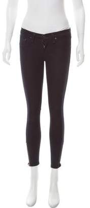 Rag & Bone Midnight Zipper Capri Mid-Rise Leggings