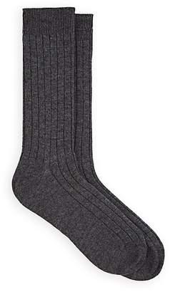 Barneys New York Men's Ribbed Wool-Cashmere Mid-Calf Socks