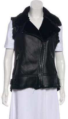 MICHAEL Michael Kors Faux Leather Zip-Up Vest