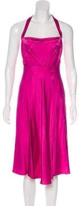 Just Cavalli Silk Halter Dress