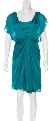 Temperley London Short Sleeve Silk Dress