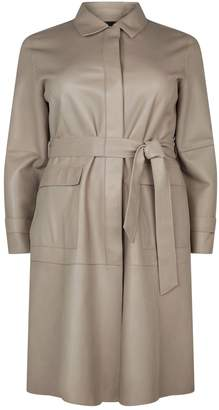 Marina Rinaldi Leather Trench Coat