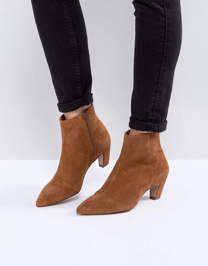 ASOS REANNE Suede Kitten Heeled Boots