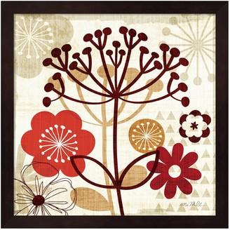 Metaverse Art Floral Pop II Framed Wall Art