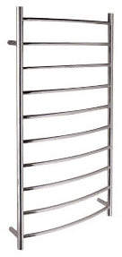 Rails Lago 10 Round Bars Curved Towel Rail