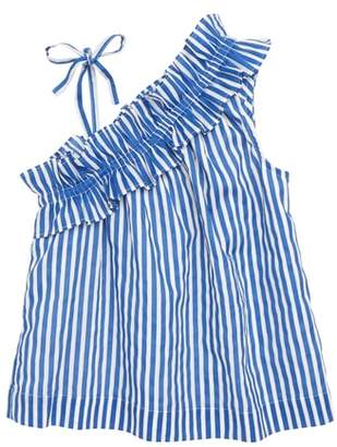 J.Crew crewcuts by Stripe Asymmetrical Ruffle Top