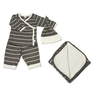 Baby Grey T-Shirt, Pants, Hat & Blanket Set