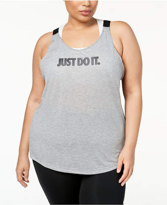 Nike Plus Size Breathe Graphic Open-Back Tank Top