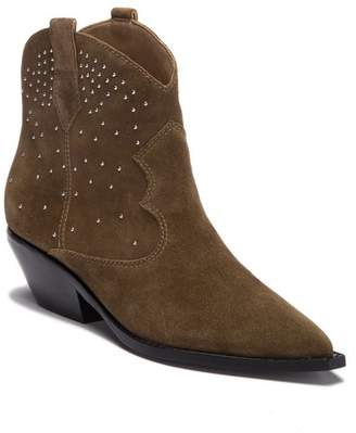 Sigerson Morrison Tira Suede Studded Ankle Bootie