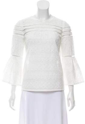 BA&SH Gianna Embroidered Top