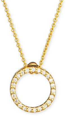 Roberto Coin Tiny Treasure Circle of Life Necklace with Diamonds