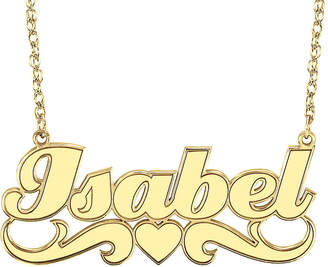 JCPenney FINE JEWELRY Personalized 14K Gold Over Sterling Silver Name Pendant Necklace