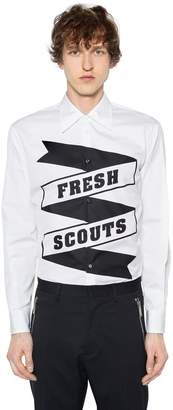 DSQUARED2 Fresh Scouts Printed Cotton Poplin Shirt