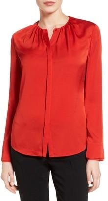 Women's Boss Banyra Stretch Silk Blouse $335 thestylecure.com