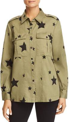 Bloomingdale's Marled Star-Print Military Shirt Jacket