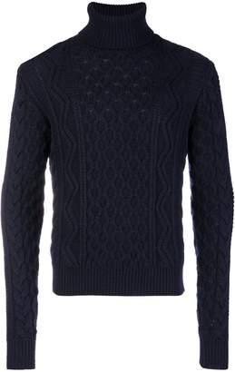 Saint Laurent roll-neck cable knit sweater