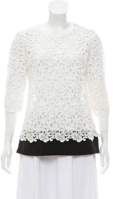 Ungaro Lace Short Sleeve Top