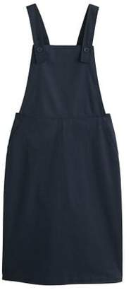 MANGO Cotton pinafore dress