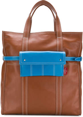 Valentino contrast pocket tote bag