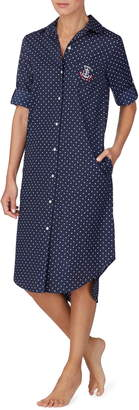 Lauren Ralph Lauren Polka Dot Sleep Shirt