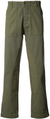 YMC Nam patch detail trousers