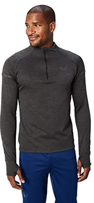 Peak Velocity Men's Thermal Waffle Long Sleeve Athletic-Fit Run Quarter-Zip