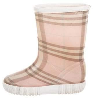 Burberry Girls' Nova Check Rain Boots