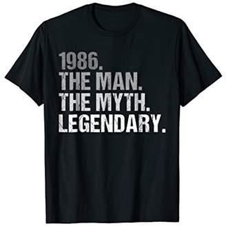 Mens The Man Myth 1986 Legendary 32nd Birthday T-Shirt Gift