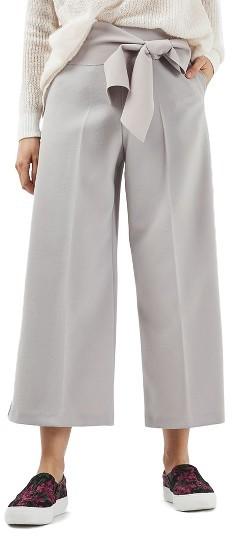 TopshopWomen's Topshop Belted Wide Leg Trousers