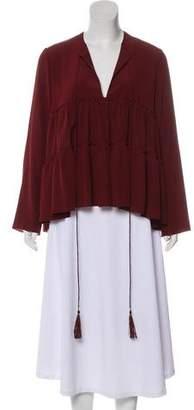 Chloé Silk Long Sleeve Top