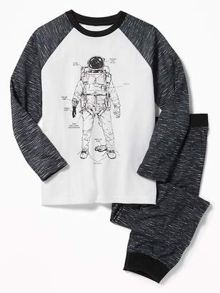 Old Navy Graphic Raglan-Sleeve Sleep Set for Boys
