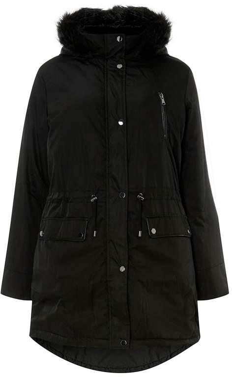 Curve Black Parka Coat