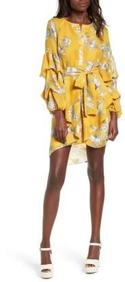 J.o.a. Tiered Sleeve Minidress