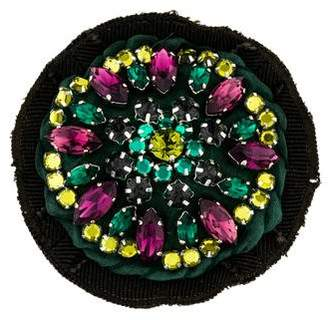 Prada Crystal Embellished Brooch