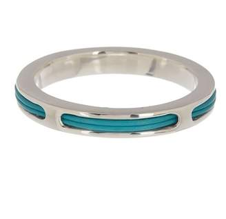 Simon Sebbag Sterling Silver & Leather Bangle Bracelet