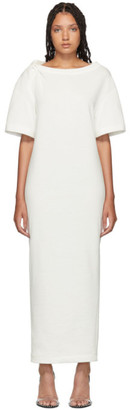 Alexander Wang White Twisted Shoulder T-Shirt Dress
