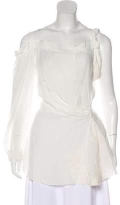 Alberta Ferretti Asymmetrical Linen Top
