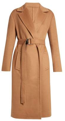Calvin Klein 205w39nyc - Notch Lapel Tie Waist Wool Coat - Womens - Camel