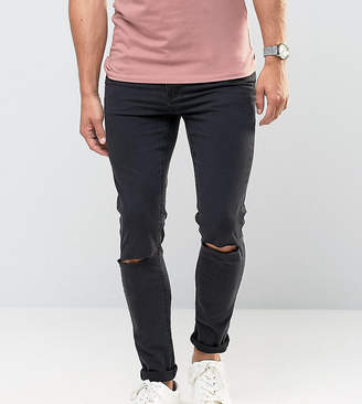 Cheap Monday Jeans Tight Skinny Fit Very Black Ripped Knee