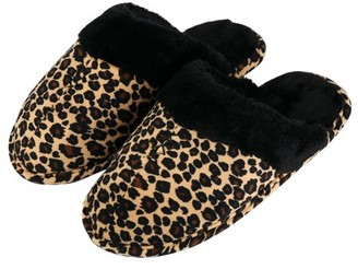AERUSI Comfy Leopard Print Unisex Soft Memory Foam Slippers With No-Slip Rubber Sole And Arch Support For Indoor Or Outdoor Daily Use