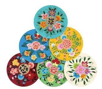 Karma Living Millifiori Coasters - Set of 6