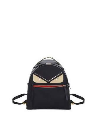 Fendi Monster Eyes Nylon & Leather Backpack