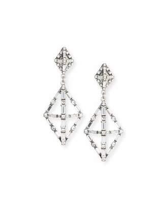Lulu Frost Proxima Baguette Crystal Drop Earrings, Silver $295 thestylecure.com