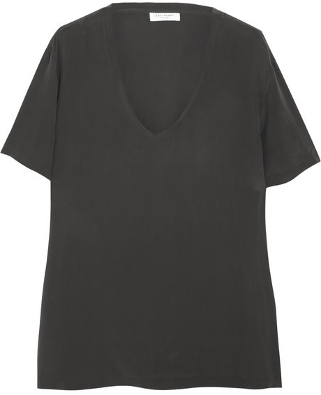 Equipment Cameron washed-silk top