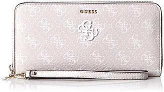 GUESS Flora Logo Large Zip Around Wallet