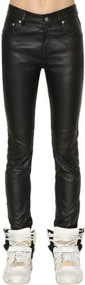 Maison Margiela Skinny Stretch Nappa Leather Pants